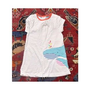 Baby Boden Stripped Baby Toddler WHALE Dress
